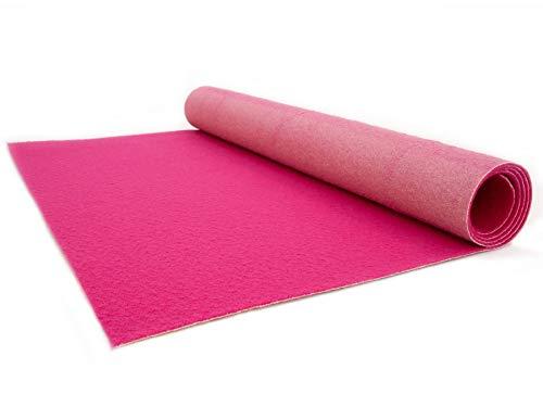 Primaflor - Ideen in Textil VIP Event-Teppich-Läufer, Hochzeitsläufer Podium - Pink, 2,00m x 5,00m, Hochzeitsteppich, Empfangsteppich, Eventteppich, Teppichboden für Messe & Event