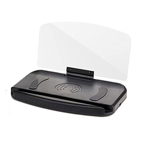 Nihlsen 1 Uds, Soporte para teléfono móvil, proyector de navegación para coche Hud, pantalla frontal, cargador inalámbrico Qi, soporte para coche