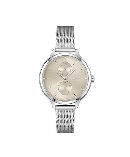 Hugo Boss Damen Analog Quarz Uhr mit Edelstahl Armband 1502535