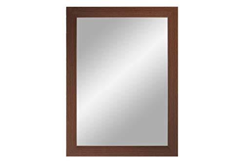 NiRa - Specchio da Parete con Cornice in Legno MDF, 15 x 30 cm, wengè, Außenmaß: 15 x 30 inch