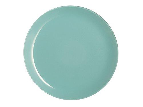 Luminarc - Plato Llano Arty Soft, Vidrio, Verde Agua, 26x 26x 2cm