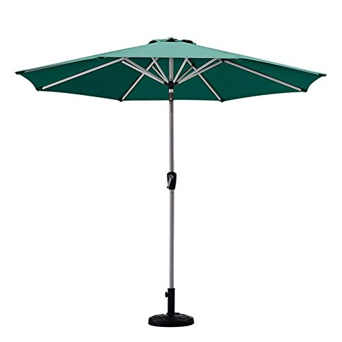 GBTB Paraguas de Mesa de Mercado al Aire Libre de 9 pies / 270 cm en el Patio con botón de inclinación y manivela, Exteriores, jardín, Patio, Playa, Camping, Piscina (Color: Verde)