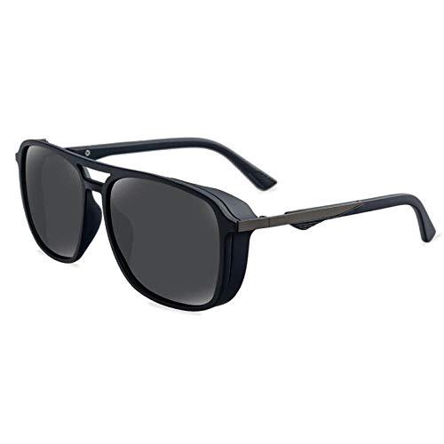 HAOMAO Gafas de Sol polarizadascuadradas Vintage TACPolicemen Style para Mujeres Hombres 5