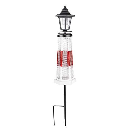 LED Solar Außen Steck Leuchte Vogelfutterstation Garten Rasen Wiese Laterne Leuchtturm Design Lampe