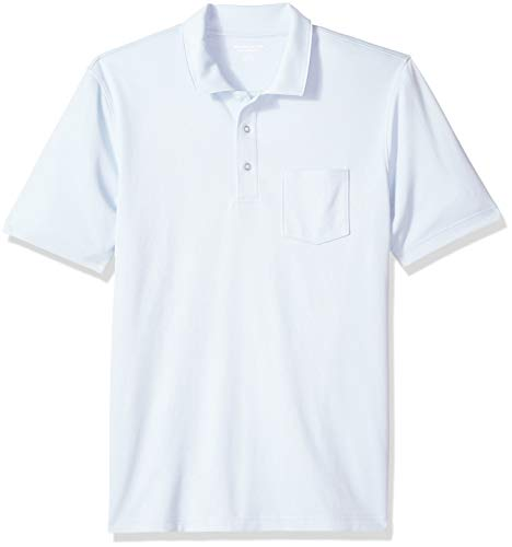 [Amazon Essentials] ジャージー素材 レギュラーフィット ポケット付き ポロシャツ メンズ ライトブルー M
