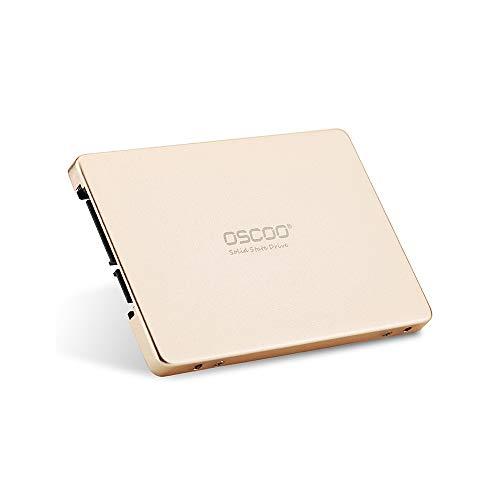 Festnight OSCOO Solid State Disk SATA III 256 GB 2,5-Zoll-SSD für PC Laptop Desktop (Gold)