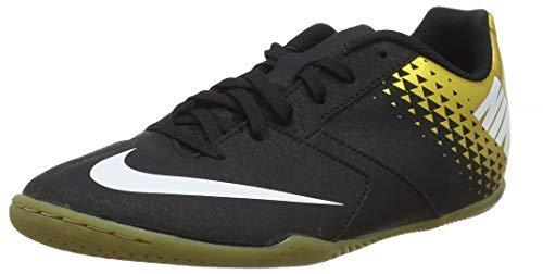 Nike Men's Footbal Shoes, Multicolour Black White MTLC Vivid Gold 077, US-0 / Asia Size s