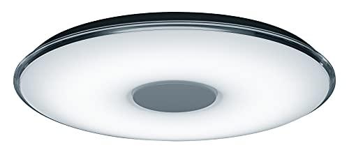 Trio Leuchten LED Deckenleuchte Tokyo 628915001, Acryl weiß, Rand klar, 45 Watt, Fernbedienung Helligkeit und Lichtfarbe einstellbar, Nachtlicht Funktion