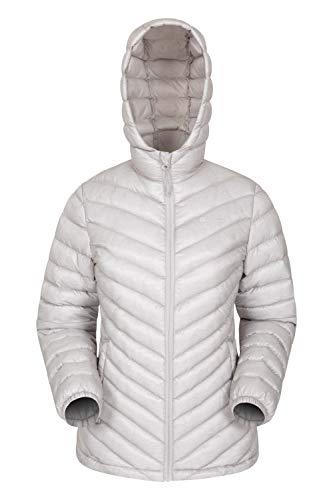 Mountain Warehouse Seasons Gefütterte Damenjacke - Wasserbeständige Winterjacke, Fronttaschen, verstellbare Bündchen und Kapuze mit Elastik Beige 50