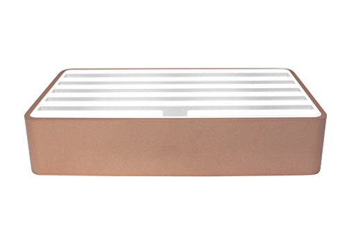 alldock Carga Aluminio Large mixxed Rose–Blanco 6x USB Hub Pro Port 2400mA Potencia Total 14400mA