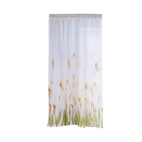 Daffodil Flower Tulle Curtain Handle Tulle Coveted 1 Fabric Wall Tapestry for Bedroom Home Wall Décor Yellow