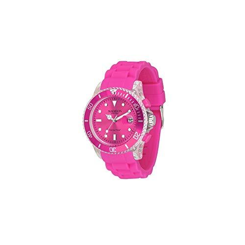 MADISON NEW YORK Unisex Uhr Candy Time® Flash Pink Onesize