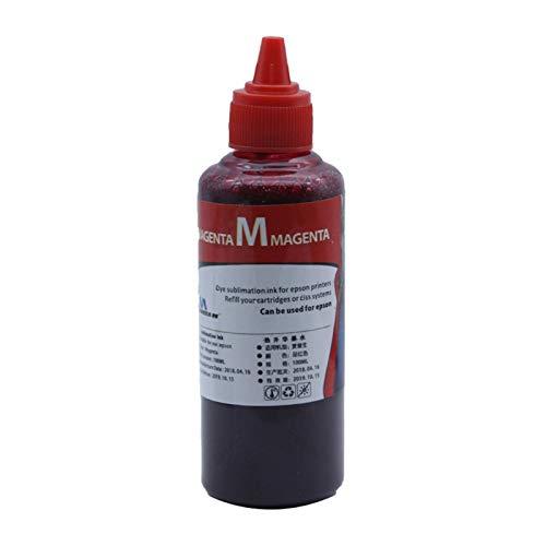 100 ml de pigmento de repuesto de botellas de tinta de repuesto para impresora de ropa negro cian magenta tinta tinta de sublimación