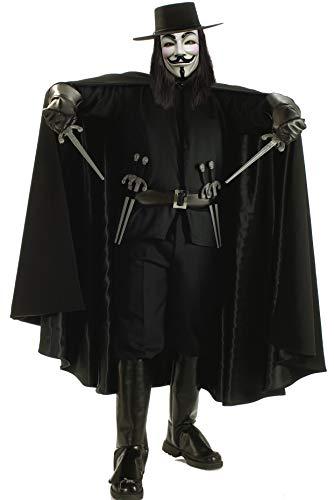 Rubbies - Disfraz de V de Vendetta para hombre, talla XL (