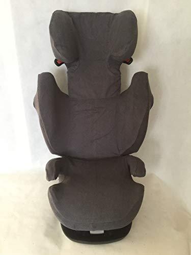 Sommerbezug Schonbezug für Cybex Solution M, M-Fix, S-Fix, M SL Frottee 100% Baumwolle dunkelgrau