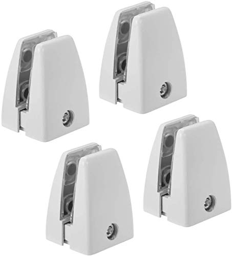 "Zetek Sneeze Guard Bracket Support 1/8"" to 3/8"" 4 PCs - (White)"