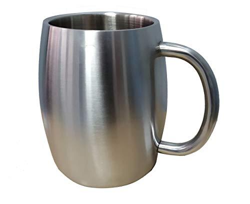 Level25 - Jarra de Cerveza de Metal. Acero Inoxidable Mantener fría la Bebida. Regalo Ideal para los Amantes de la Cerveza