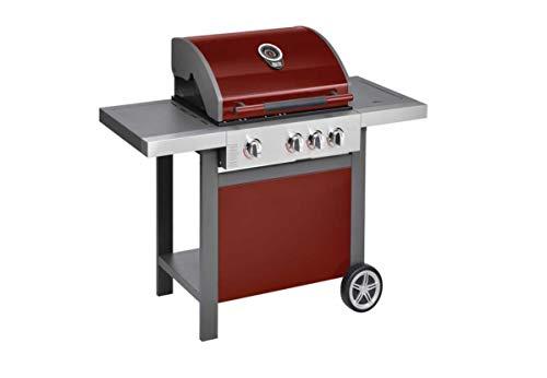 Jamie Oliver Gasgrill Gasgrillwagen BBQ Home 3S 30 Bar Chili Red