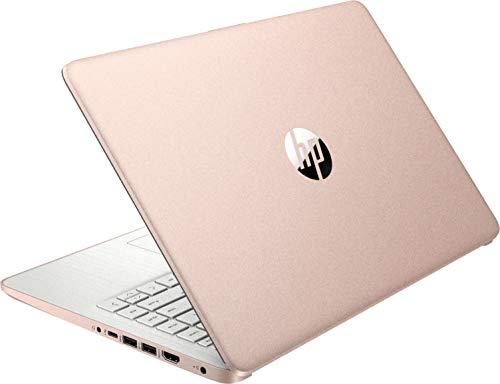 "2021 HP Stream 14"" HD Thin and Light Laptop, Intel Celeron N4020 Processor, 4GB Memory, 64GB eMMC Storage, WiFi 5, Webcam, HDMI, 1 Year Office 365, Windows 10 S, Rose Gold, / IFT Accessories"