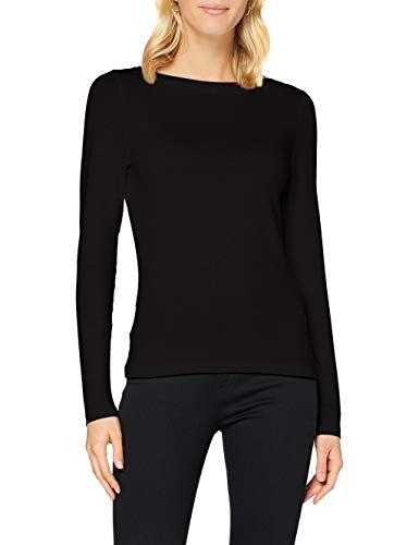 Vero Moda VMPANDA Modal L/S Top GA Color Hauts à Manches Longues, Noir, XS Femme