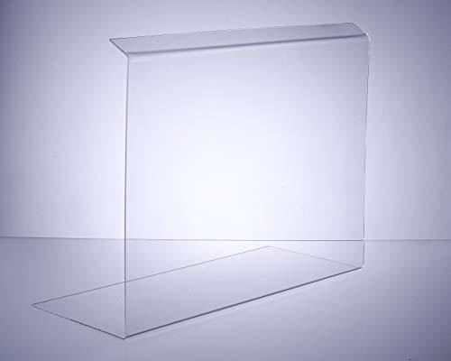 Thekenaufsatz/Greifschutz/Spritzschutz aus original Plexiglas® XT 60cm