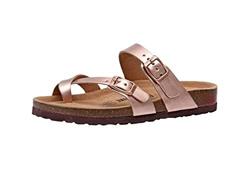 Women s Cushionaire  Luna Low Heel Slide Sandals Gold 9 M