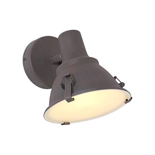 Industriële wandlamp Steinhauer 6525B (metaal, nikkel mat) E27 [EEI: A++]