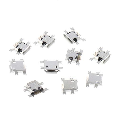 10 Set Connettore per Spina di Ricarica a 90 /° Tipo Micro 5P USB YoungerY