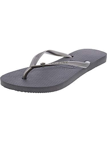 Havaianas Slim Crystal Glamour Sw Sandal, Steel Grey,37/38 BR