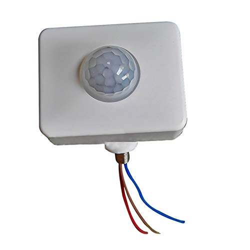 Qp- Automatische Sicherheits PIR Infrarot-Bewegungs-Sensor-Detektor-Wandstrahler Schalter, Größe: 10mm (schwarz). (Color : White)