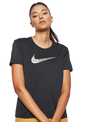 Nike Miler Top Short-Sleeve Hbr1, T-Shirt Donna, Black/Reflective Silv, S
