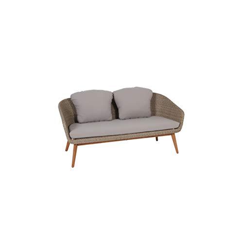 Greemotion Murcia Loungemöbel Set 4-teilig für Garten und Terrasse mit Tisch aus Holz, braun, 1 x 1 x 1 cm - 6