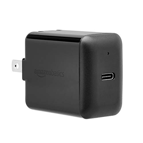 AmazonBasics 15W One-Port USB-C Wall Charger for Tablets and Phones with Power Delivery - Black
