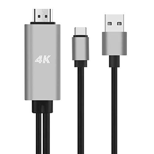 USB Type-C HDMI 変換 ケーブル タイプc HDMI テレビ 変換 4K 高解像度 設定不要 充電しながら使える Macbook Pro/Macbook Pro2018/iPadPro11/Chromebook/HUAWEI 対応 USBタイ