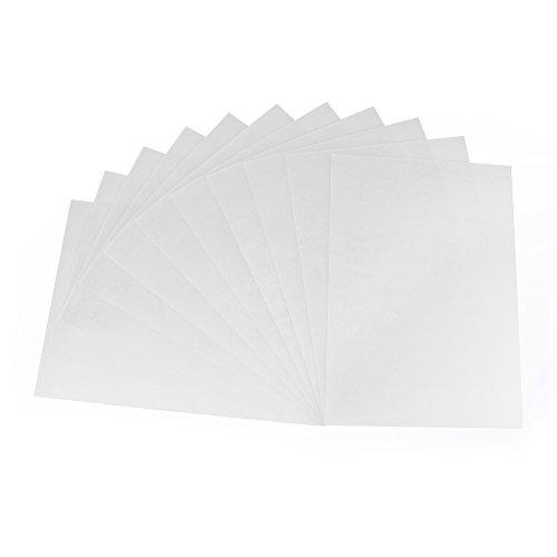 ewtshop® Jumbo set krimpfolie platen, A4 0,3 mm, mat transparant, 10 vellen + 10 sleutelhangers set Shrink plastic sheets + keychain ringen
