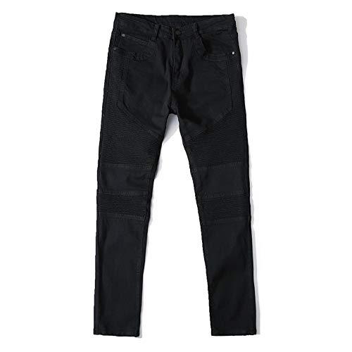 Vaqueros para Jeans Jeans para Hombre 100% Algodón Marca Biker Jeans Skinny Stretch Jeans Casuales para Hombre Recién Lle