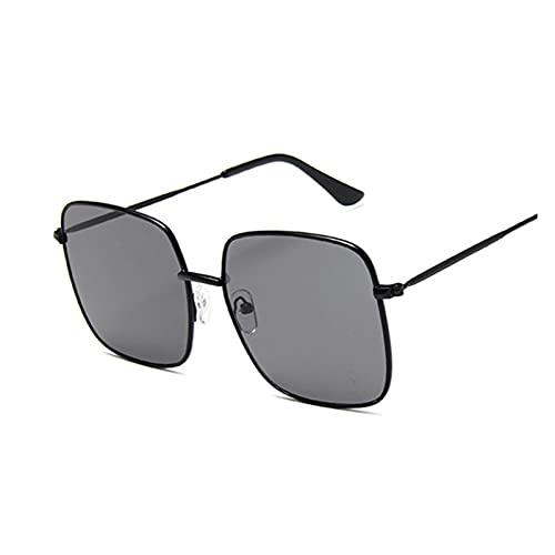 ZZDH Gafas de Sol Gafas de Sol de Las Mujeres de Gran tamaño Moda Negra Cuadrado Big Frame Gafas de Sol Femenino Retro Gafas Unisex Regalo para Madres (Lenses Color : C)
