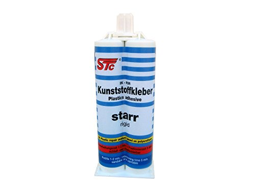 Preisvergleich Produktbild STC 2K PUR Kunststoffkleber starr 50 ml Kfz Industriekleber Kunststoffreparatur