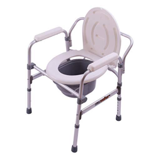 KYSZD-Cómodas Sillas con Inodoro | Médico Altura Ajustable Ducha Cabecera Silla cómoda | Respaldo ergonómico | para usuarios Mayores, discapacitados, inodoros