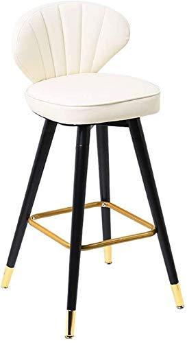 JJSFJH Küchentheke Barhocker Frühstück Stuhl Barhocker 360 ° Drehmassivholz Barhocker, amerikanischen beiläufigen hohen Stuhl, Modern Home Frühstück Hocker, ergonomische Rückenlehne, for Küchentheke C