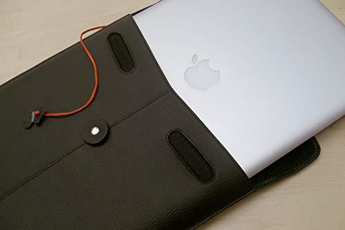 CivilianLab PRO-Manila - Custodia Protettiva in Pelle per Apple MacBook 15', Colore: Nero