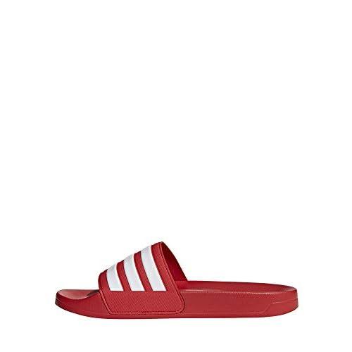adidas Adilette Shower, Scarpe da Spiaggia e Piscina Uomo, Rosso (Scarle/Ftwwht/Scarle Scarle/Ftwwht/Scarle), 37 EU