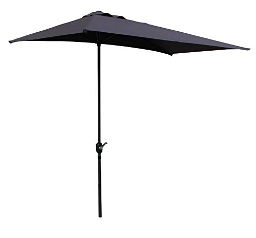 Pure Home & Garden Wand Kurbelschirm Shade 250 x 130 cm anthrazit, UV-Schutz 40 Plus