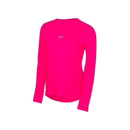 Speedo UV Protection M/L Camiseta de Manga Comprida, Mulheres, Rosa, G