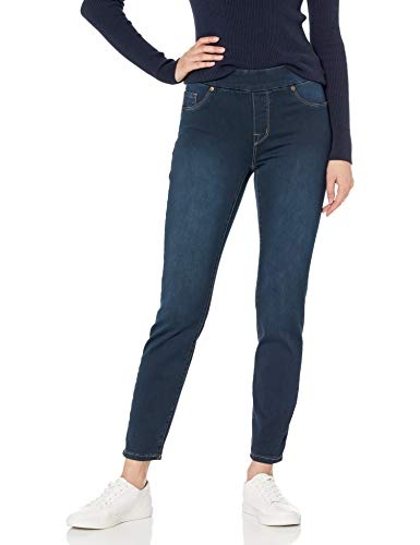 Tribal Women's Dream Pull-On Skinny Ankle Jean, Navy Blast, 12