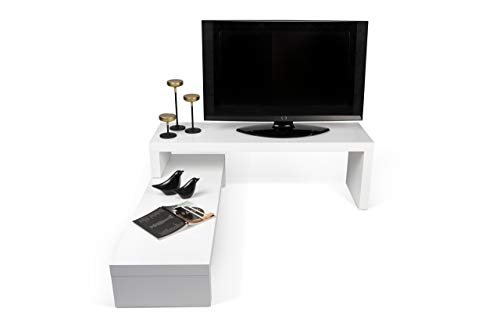 TemaHome, Cliff, Mobile Porta TV, Bianco Opaco, 125 x 38 x 22 cm
