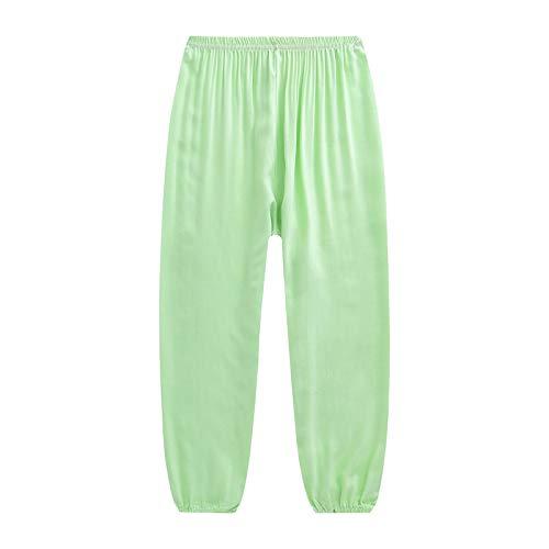 XLYAN Tai Chi Harem Pantalons Yoga Pantalons Coton Pantalon Moustique Pantalon Climatisation Femelle,LightGreen-S
