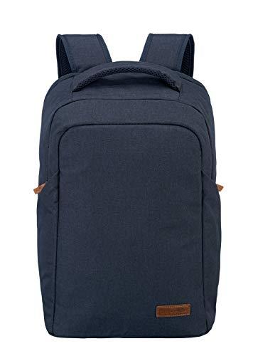 travelite Handgepäck Rucksack mit Laptop Fach 15,6 Zoll, Gepäck Serie BASICS Safety Daypack: Sicherer Rucksack mit verstecktem Hauptfach, 096311-20, 46 cm, 23 Liter, marine (blau)