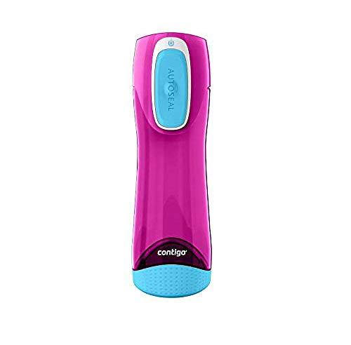 Contigo Trinkflasche Swish Autoseal große BPA-freie Kunststoff Wasserflasche, auslaufsicher, für Sport, Fahrrad, Joggen, Wandern, 500 ml, Magenta