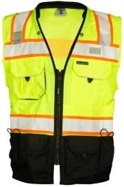 ML Kishigo S5002 Black Philadelphia Mall Series Surveyor Safety low-pricing Vest Yellow Lime -